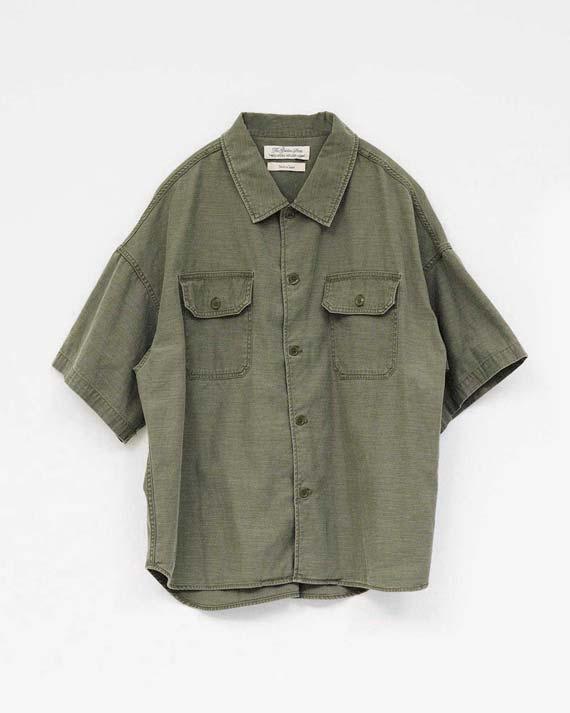 ワイドミリタリー半袖シャツ